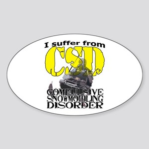 CSD Compulsive Snowmobile Disorder Sticker (Oval)